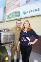 """Полевая кухня в магазинах """"Моя Родня"""" в честь празднования Великой Победы."""