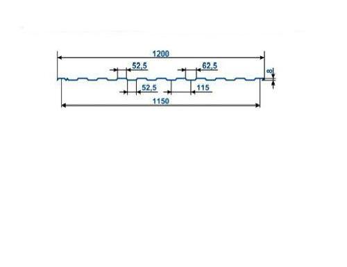 Профнастил окрашенный С-8 Шоколад 8017 (2,0 х 1.2 х 0.45)