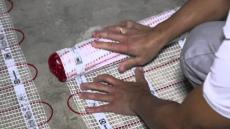 Установка теплого пола Electrolux с применением нагревательного мата